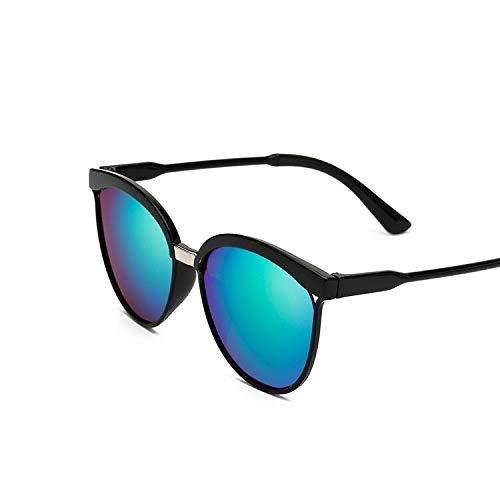 Vintage Negro Gafas De Sol Mujeres Ojo De Gato Gafas De Sol Para Las Mujeres Color Lente Espejo Señora Sunglass Mujer Moda Marca Diseño Oculos, Green,