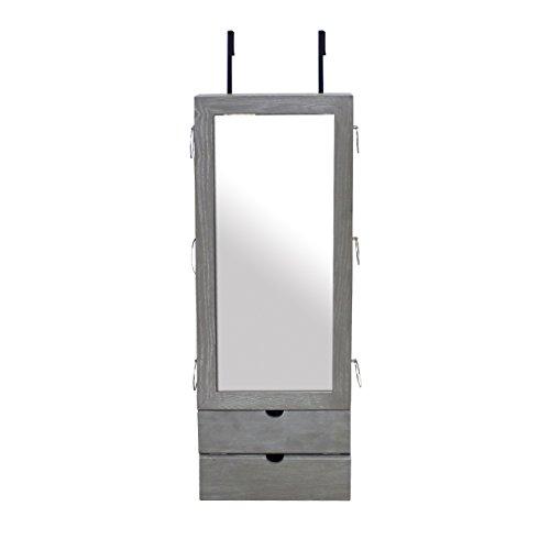 Todeco - Mueble para Joyas con Espejo, Organizador con Espejo - Material:...