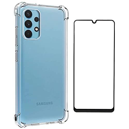 Kit Capinha Anti-queda Galaxy A32 4G + Película 5D Cerâmica Full Protect [FIT IT]