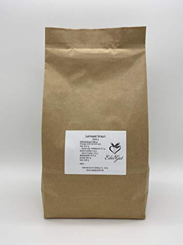 Leinsaat braun 2,5 kg Leinsamen Bäcker Qualität vegan rohkost 2500g