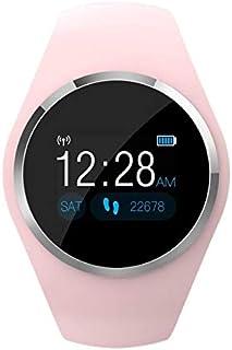 MeterMall - Pulsera Inteligente con visualización LCD a Color para medir la presión Arterial y el Ritmo cardíaco, Pulsera Inteligente de Seguimiento de Actividad física, Color Rosa