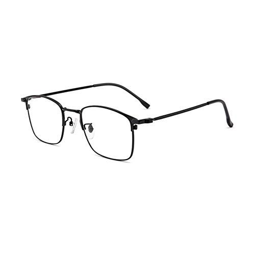 EYEphd Gafas de Lectura de Lectura Anti-Azul HD con Zoom automático Inteligente, Marco de Metal Ultraligero 1.56 Lector de Lente de Resina asférica Grado de Mejora +1.0 a +3.0,Negro,+2.25