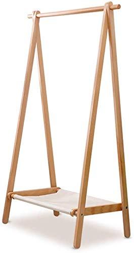 Kapstok met stang om op te hangen, afneembaar, wasbaar, met stoffen bekleding, drie maten stammen/walnoot (kleur: bruin, maat: 148,5 en meer), 75 cm