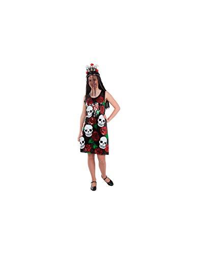 DISBACANAL Disfraz de Catrina Lentejuelas - Único, M