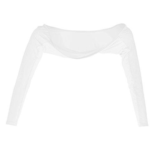 Homyl Manchette de Chale de Golf Manches de Protection Solaire Super Élasticité Protection UV pour Femmes - Blanc, M