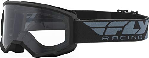 FLY Racing Focus Goggles for Motocross, Off-road, ATV, UTV, and More (BLACK with Clear Lens)