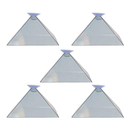 Liamostee 3D Hologram Pyramid Display Projector Video Stand Portable For Smart Mobile Phone