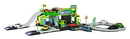 Majorette 212050010 - Creatix Petrol Station, Set mit Tankstelle und Werkstatt, Maߟe: 78 x 39 x 20 cm