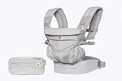 Ergobaby Mochila Portabebe Ergonómico Recien Nacido, Adapt Cool Air Mesh, Porta Bebes en Mochilas (Gris Perla)