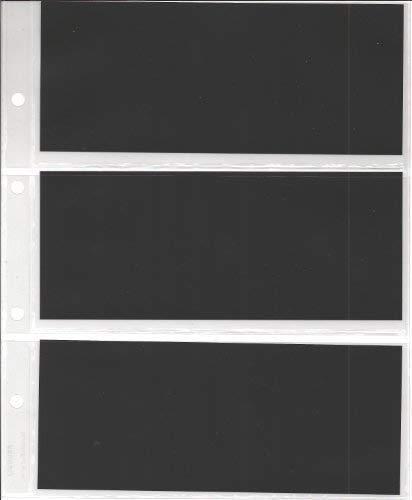 FEUILLES DE RECHARGE POUR CLASSEURS BILLETS DE BANQUE/CARTES POSTALES/PHOTOS / 3 cases