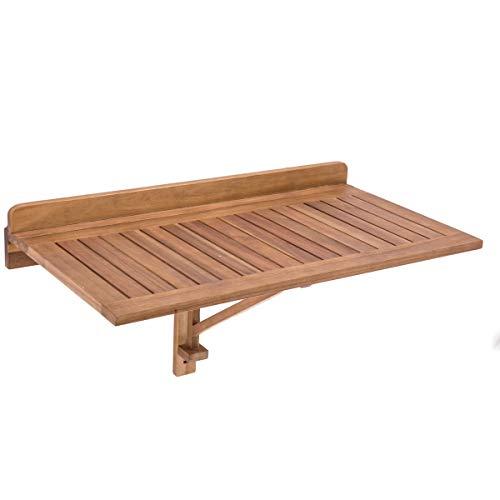 Mesita Estante de terraza Plegable de Madera marrón Garden - LOLAhome