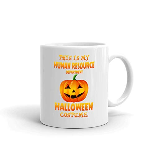 Ceramic Mug This Is My Human Resource Department Disfraz De Halloween Cocoa Cumpleaos Blanco Taza De Porcelana 330Ml Taza De Caf Impresa De Doble Cara Taza De Cermica Personali