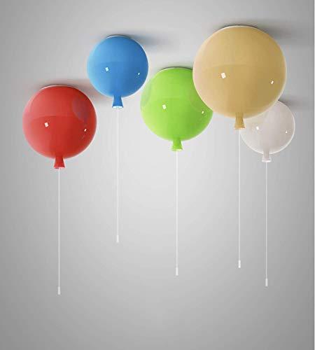 Plafoniera a palloncino colorato Lampada a soffitto moderna semplice, Lampadario decorativo per camerette per bambini, 25 cm di diametro, con lampadina da 5W