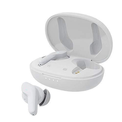 Fone de ouvido BlitzWolf®BW-FYE5S, Bluetooth V5.0 Mini TWS com tamanho de bolso, estilo, uso confortável, efeito de som HiFi e IPX5 à prova d'água (Branco)