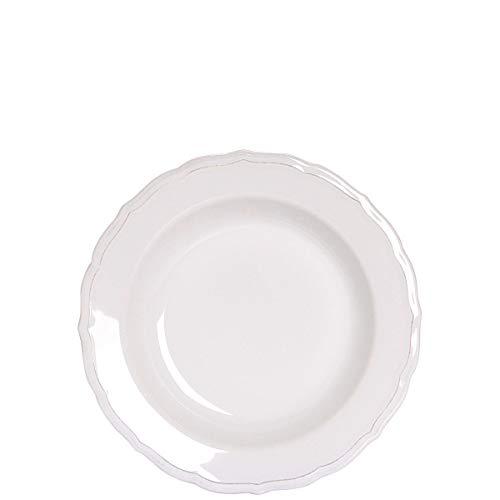 BUTLERS Eaton Place Klassisches Teller-Set aus Keramik Ø 27,5 cm - 6 weiße Speiseteller im romantischen Stil - Geschirr