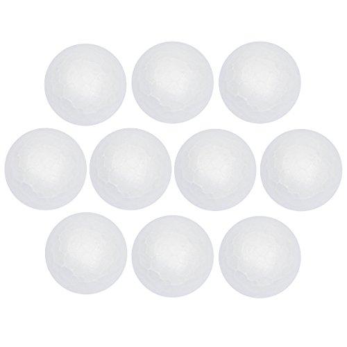 Styropor-Kugeln | Styroporbälle für Paillettentechnik, Serviettentechnik, Filzen, Basteln, Heimwerk, DIY (Ø6 cm - 10 Stück)