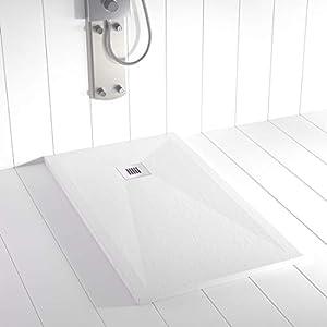 Plato de ducha PLES Resina Stone Blanco - 210x90 cm