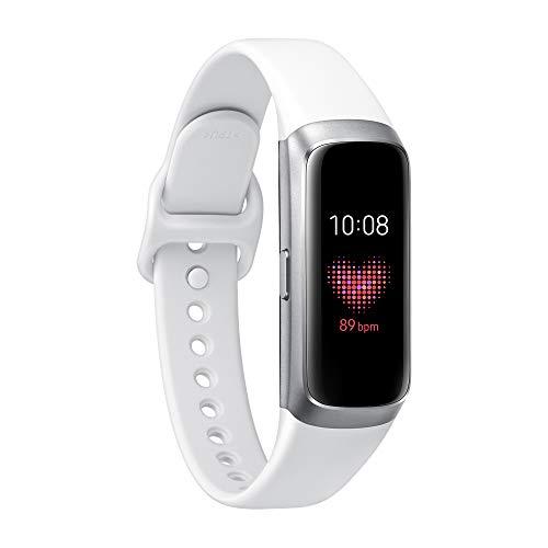 Samsung Galaxy Fit con Cardiofrequenzimetro, Accelerometro, Giroscopio, Tracker Allenamento, Display 0.95 Full Color AMOLED Full Touch, Batteria 120mAh, Argento