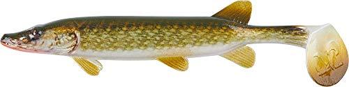 Balzer Shirasu Clone Shad - Gummifisch zum Spinnfischen auf Hechte, Zander & Barsche, Gummiköder, Gummishad, Hechtköder, Softbait, Länge:15cm, Farbe:Pike