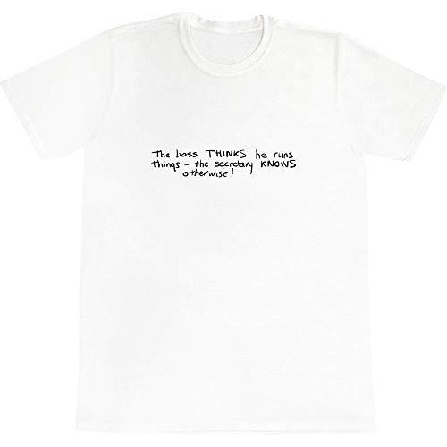 Azeeda 'Boss & Secretary' Baumwoll-T-Shirt für Erwachsene (Groß) (TA00014431)