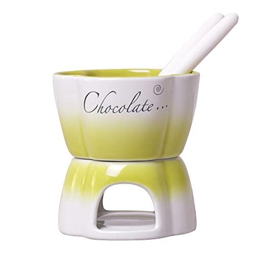 Keramik Schokofondue Fondue Set Käsefondue Schokolade Geschenk Teelichtfondue Tapas Für 2 Personen