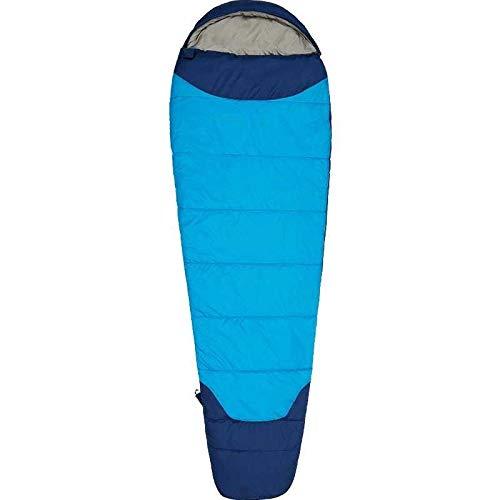 DLSM Saco de Dormir para Adultos Acampar al Aire Libre Invierno Engrosamiento Calor Adulto Interior a Prueba de frío Solo Saco de Dormir portátil-Azul