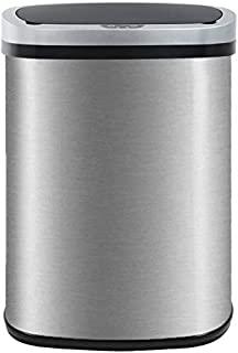 Kitchen Trash Can for Bathroom Bedroom Home Office 13 Gallon 50 Liter Automatic Touch Free High-Capacity Garbage Can with ...