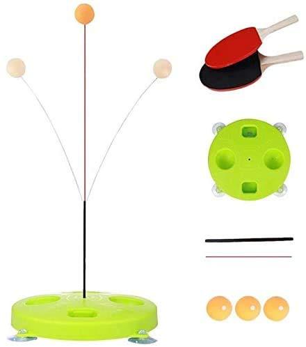 ODODDE Mesa de Ping Pong Trainer, Juguete Mesa de Ping Pong Eje Flexible de los niños de la Bola elástico de Formación con Traje de descompresión Deportes