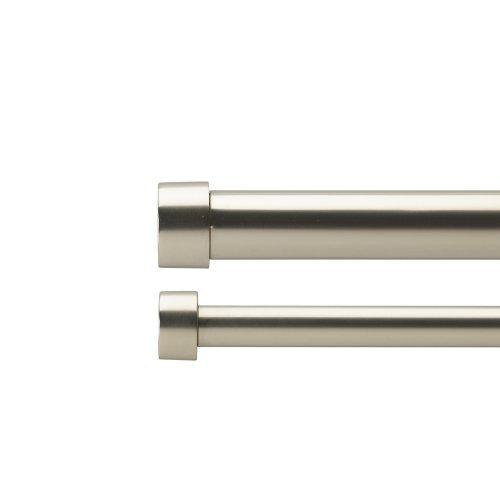 Umbra Cappa 88-Inch to 120-Inch Double Drapery Rod, Nickel