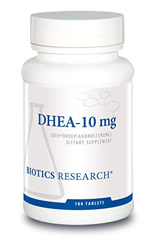 Biotics Research DHEA 10 Milligram Hormonal Balance, Metabolism, Improved Mood and Outlook, Age Gracefully, Healthy Stress Response. 180 Tablets.