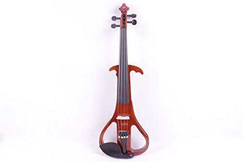 ACDES 3# un violín eléctrico de madera maciza naranja de 4 cuerdas...