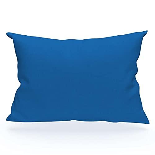 Federa US 50 x 70 cm in cotone tinta unita blu marino di Soleil d'Ocre