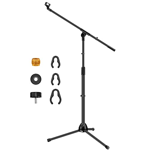 InnoGear Microphone Stand, Detachable Tripod Boom Stand Height Adjustable Heavy Duty...