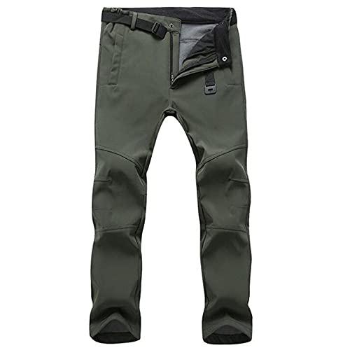 N\P Pantalones Impermeables de Estiramiento Hombres Casual Invierno tiburón de vellón Grueso