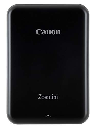 Canon Zoemini Mini Fotodrucker (Mini Fotodrucker, Bluetooth, 5 x 7,5cm Fotos, Akku, ZINK Druck tintenfrei, Sofortdruck, iOS, Android, Printapp, 160 g, 314 x 400 dpi), schwarz