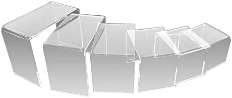 CHOICE ACRYLIC DISPLAYS Set of 6 Max 56% OFF Risers Riser Nippon regular agency Acrylic D Tiered