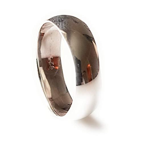 Zilveren Band Ring 5 mm | Effen Sterling zilveren band Ring | Huwelijksring Duimring
