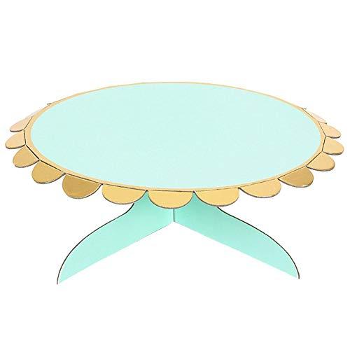 MSYOU - Plato Redondo para Tarta (apilado, 32,5 cm), diseño de Frutas y Tartas