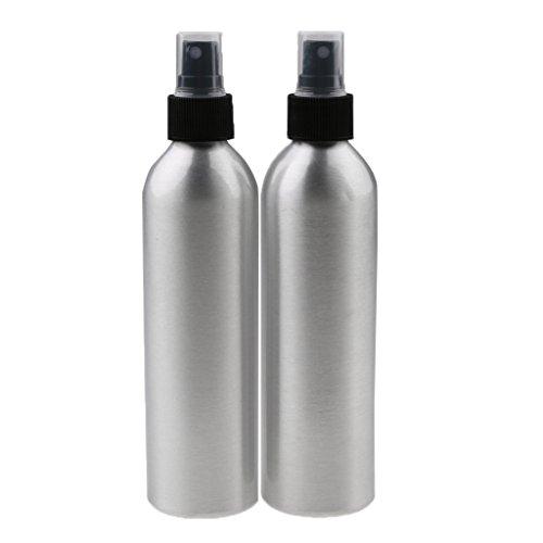 T TOOYFUL Bouteille De Jet Vide en Aluminium du Paquet 2 pour Les Cheveux De Salon, Bouteille De Brume Fine De Pulvérisateur De Pompe Liquide De Refilalble pour - 150ml