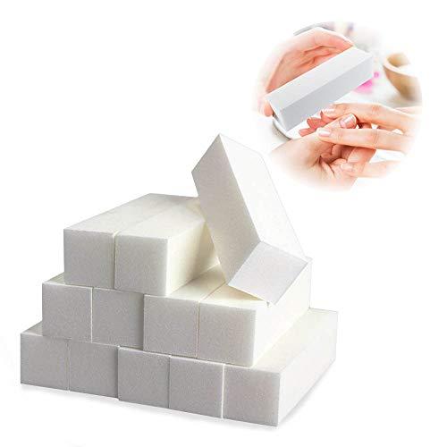 Ealicere 12 Stück Nagelfeilen Körnung 150 Weiß Buffer Schleifblöcke Buffer Schleifblöcke Nagelfeile Set Nagel Buffer für den Heimgebrauch und für den Salon