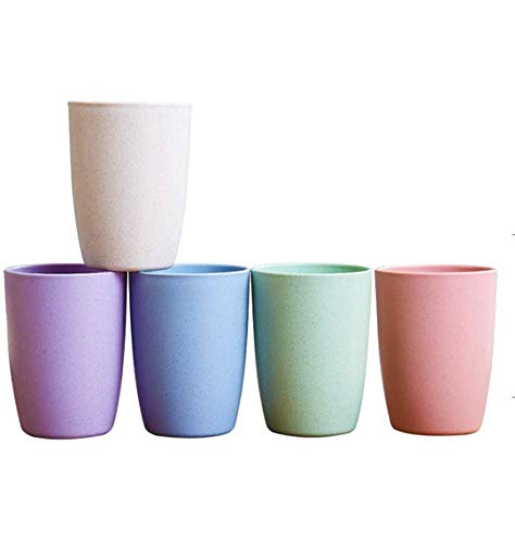 Choary Eco-friendly Unbreakable Reusable Drinking Cup for Adult(12 OZ), Wheat Straw Biodegradable...