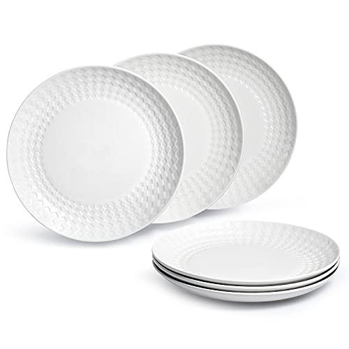 Sunting Van Well - Juego de platos llanos (6 piezas, 25,4 cm), color blanco