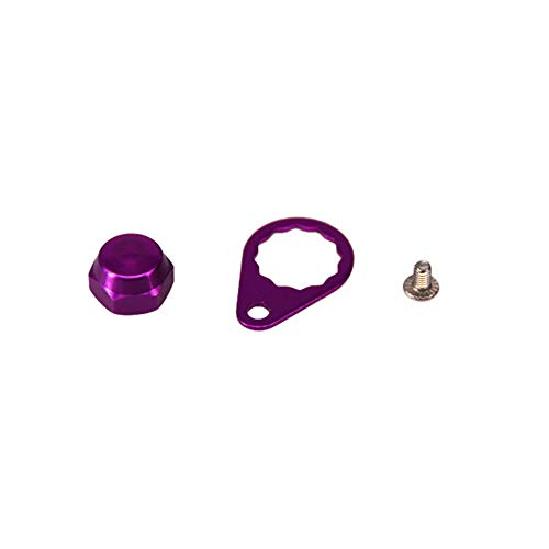 AKDSteel Fishing Reel Handle Crank Nut Plate Screw Cap Reel Left/Right Hand Baitcasting Tackle Accessory Purple Right