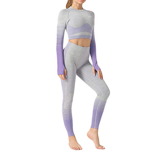 Stretch Sports Bra Gym Clothes,Yoga Outfits for Women 2 Piece Set,Workout High Waist Athletic Seamless Leggings