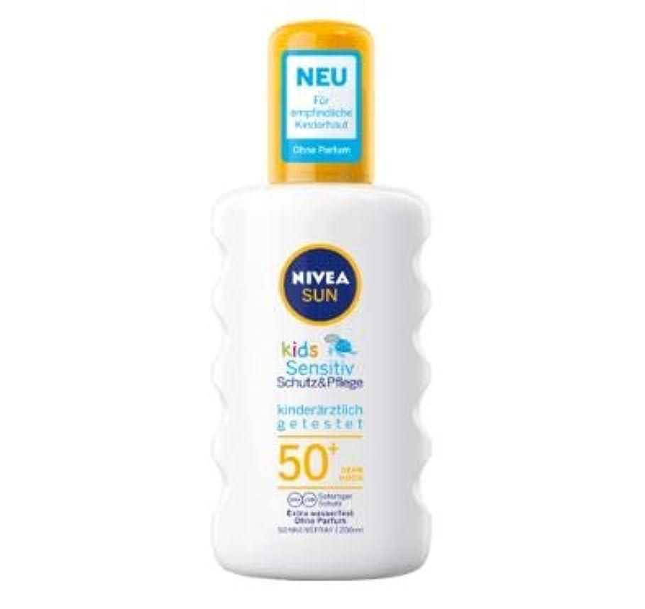 セラー抵当寝るニベア Nivea Sun 日焼け止め スプレー 敏感肌 子供用 200ml SPF50+ [並行輸入品]
