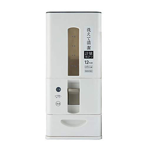 juman634 Multi-función de Medida de arroz Cilindro medidor Barril de Almacenamiento de arroz Recipiente Sellado a Prueba de Humedad a Prueba de Insectos del arroz dispensador, 6/12 KG, Rojo y Negro