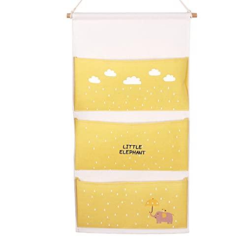 AIWKR Bolsas colgantes para almacenamiento,Organizador colgante de 3 bolsillos, para habitación, cocina, cuarto de baño