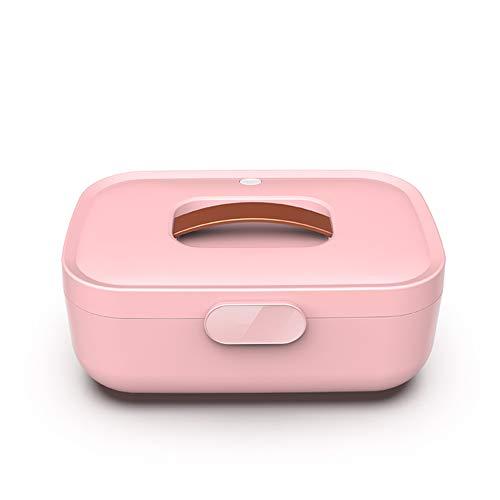 Uv-desinfectiebox met ozonondergoed sterilisator droogbox desinfectie van draagbare sterilisatoren voor ondergoed, masker, fopspeens, make-up-tools, tandenborstels, steriliseren, roze