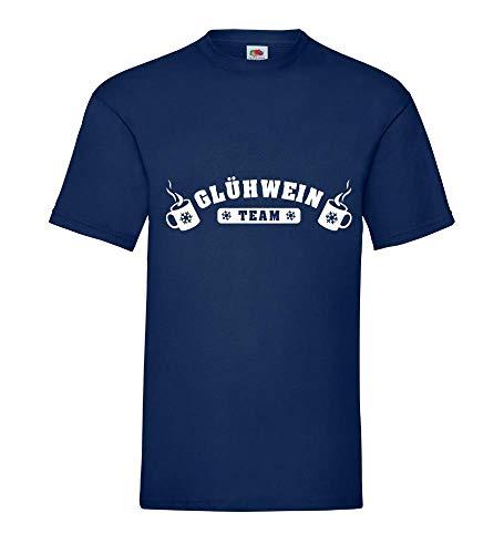 Generisch Vin Brulè Team Caldi Tazza Uomini Maglietta - shirt84 - Blu Marino, 3XL
