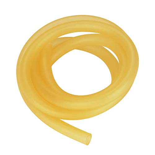 StonyLab Rubber Tubing, Pure Latex Amber Tubing Natural Rubber Tube 3/8'' (9mm) OD 1/4'' (6mm) ID Highly Elastic and Strong - 1 Meter